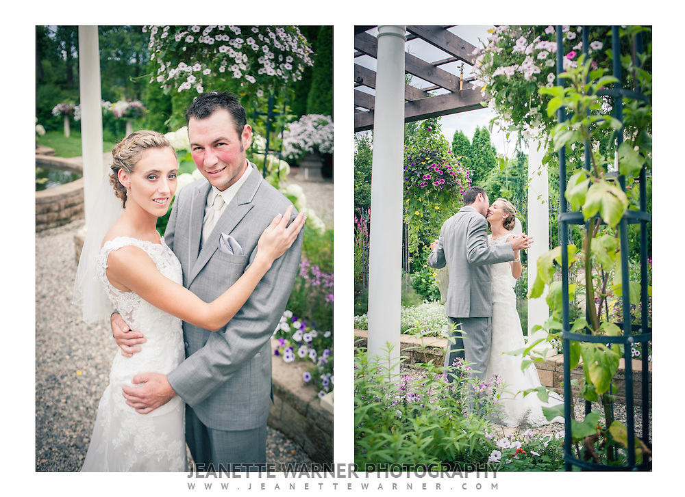 Courtney and Jason's beautiful wedding at Heavenly Scent Herb Farm in Fenton, Michigan, followed by a fun filled reception at Coyote Preserve.