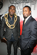 l to r: Derrick Adams and Torian Robinson at The First Annual 2009 Gold Rush Awards held at the Red Bull Space on February 11, 2009 in New York City..Rush Arts Gallery (Chelsea, NY) and Corridor Gallery (Clinton Hill, Brooklyn) founded 1996 are core programs within the Rush Philanthropic Arts Foundation (non-profit) dedicated to providing urban youth with significant exposure and access to the arts, as well as providing exhibition opportunities to artists.  The exhibitions and education programs of the galleries are also sponsored in part by a grant from the New York State Council for the Arts and are free and open to the public..