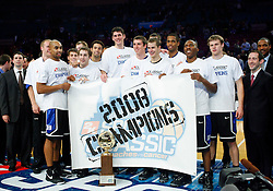Nov 21, 2008; New York, NY, USA; The Duke Blue Devils celebrate their 2K Sports Classic Championship game win over the Michigan Wolverines at Madison Square Garden. Duke won 71-56.