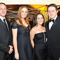 -FREE PICTURE / NO REPRODUCTION FEE-.Pictured at the annual Black and White Ball in the Blue Haven Hotel, Kinsale were Jeremy Hall and Ali O'Brien from Midleton with Lara Jones, Cobh and Colman Beechinor, Ballintemple..Pic. John Allen