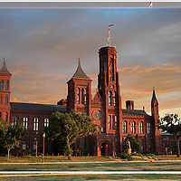 The Smithsonian Castle in 3D at Sunset, Lenticular series, Washington DC