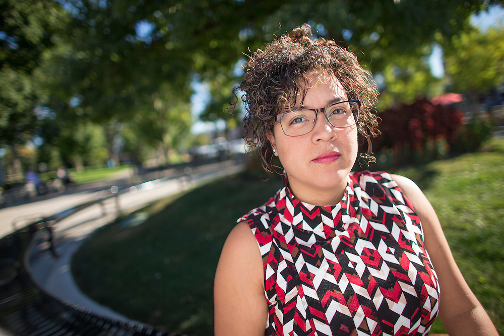 London, Ontario ---2016-09-24--- Viviana Moran sits on a bench at Victoria Park in downtown London, Ontario, September 24, 2016. Viviana, originally from Ecuador, who originally came to Canada to study at Bishops University in Quebec is now being forced to quit her job and leave after her work visa was not extended.<br /> GEOFF ROBINS The Globe and Mail