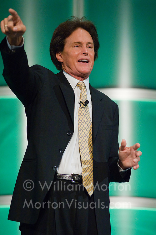Keynote speaker Bruce Jenner speaks at the CASBO conference at the Sacramento Convention Center. Photography by Dallas event photographer William Morton of Morton Visuals event photography.