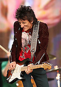 LONDON, ENGLAND - JULY 06:  Ronnie Wood of The Rolling Stones performs live on stage during day two of British Summer Time Hyde Park presented by Barclaycard at Hyde Park on July 6, 2013 in London, England.  (Photo by Simone Joyner)