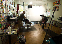Portrait Session with Jordan Soriano, Barber.  Seattle, WA 2007.