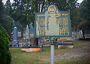 Cemetery with tombs of unknown Confederate soldiers in Stone Mountain Georgia, U.S.A.