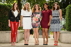 SEP 03 2014 Kelly Brook presents her debut fashion collection for Simply Be