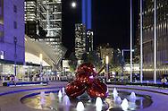 Silverstain Family Park, Jeff Koons sculpture, New York City.