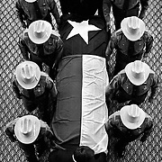 The coffin of former Texas Governor John Connolly is removed from the State Capitol by Department of Public Safety troopers in Austin, Texas (TX)...Photo by Khue Bui