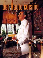 Alain Ducasse, in his Paris restaurant, for der Feinschmecker, Germany