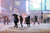 Major Snowstorm in Roars into New York City on February 25, 2010 in New York City