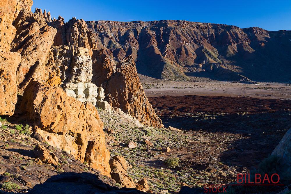 Llanos de Ucanca. Teide volcano. Teide National Park. Tenerife, Canary Islands, Atlantic Ocean, Spain