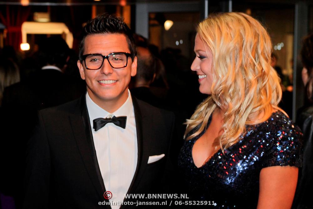 NLD/Amsterdam/20111017 - Premiere De Heineken Ontvoering, Jan Smit en partner Liza Plat