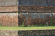 Detail of the external walls of Hue Citadel / Imperial City, Hue, Vietnam