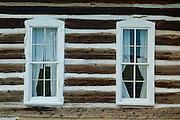 Hornbek Homestead, windows, Florissant Fossil Beds National Monument, Colorado