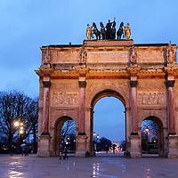 Europe, France, Paris. Arc de Triomphe du Carrousel