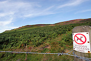 No dogs on access land sign in the Peak District National Park ..., Travel, lifestyle