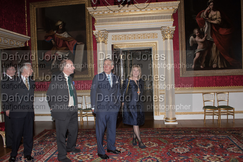 DAVID CAMPBELL; THE PRINCE OF WALES; HON HANNAH ROTHSCHILD, Everyman 25th Anniversary party, Spencer House. St. James' Place. London. SW1. 26 October 2016