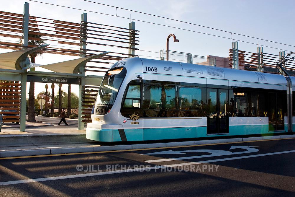 Downtown Phoenix Metro Light Rail Transportation Jill