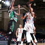 Westchester Knicks Forward THANASIS ANTETOKOUNMPO (43) drives towards the basket as Delaware 87ers Forward CHARLES JACKSON (34) defends in the first half of a NBA D-league regular season finale between the Delaware 87ers and the Westchester Knicks Friday, Apr. 01, 2016, at The Bob Carpenter Sports Convocation Center in Newark, DEL.<br /> <br /> The Westchester Knicks will open up post season play verses the sioux skyforce Tuesday, Apr 5, 2016, at The Westchester County Center in White Plains, NY.