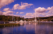 Image of boats in Southwest Harbor on Mount Desert Island in Maine, American Northeast