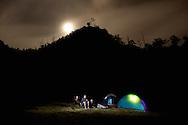 Our camp, high atop Songluo Hu ???, a mountain lake near Yilan, Taiwan.
