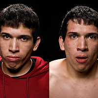 Jacksons MMA Series 7: Before and After images of amateur MMA fighter Pete Quezada at the Hard Rock Casino in Albuquerque, NM.