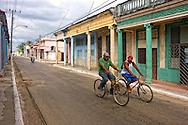 Bicycling in Moron, Ciego de Avila, Cuba.