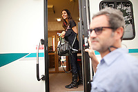 "Victoria Justice on location shooting ""Fun Size"" in Cleveland, Ohio. ..Photo by Robert Caplin"