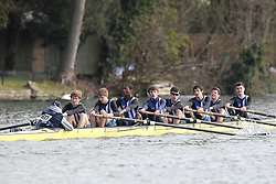 2012.02.25 Reading University Head 2012. The River Thames. Division 1. Bedford School Boat Club A J15A 8+