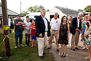 Marcus Bachmann ,left, and his wife, GOP Presidential candidate Rep. Michele Bachmann, campaign at the Story County Fair in Nevada, Iowa, July 23, 2011.