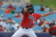 Mississippi's Drew Pomeranz pitches vs. South Carolina during the Southeastern Conference tournament at Regions Park in Hoover, Ala. on Wednesday, May 26, 2010. Pomeranz gave up 6 hits, walked 1, and struck out 7 in 7 innings in the Rebels 3-0 win.