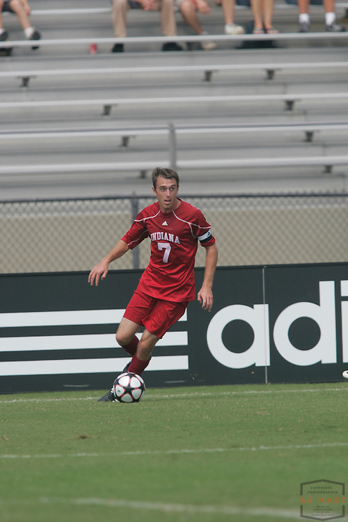 06 September 2009: Indiana's Eric Alexander as the Indiana Hoosiers played the Wake Forest Demon Deacons in a college soccer game in Bloomington, Ind.