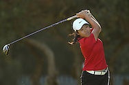 CAPE TOWN, SOUTH AFRICA - Wednesday 8 March 2016, Woo-Ju Son tees off on the 2nd during the 1st Round of the Curro SA Juniors International at the Durbanville Golf Club. <br /> Photo by Shaun Roy/ImageSA