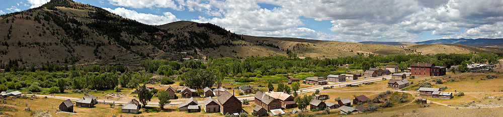 MT00070-00...MONTANA - A panoramic view of historic Bannack, once a booming mining town now a ghost town in Bannack State Park.