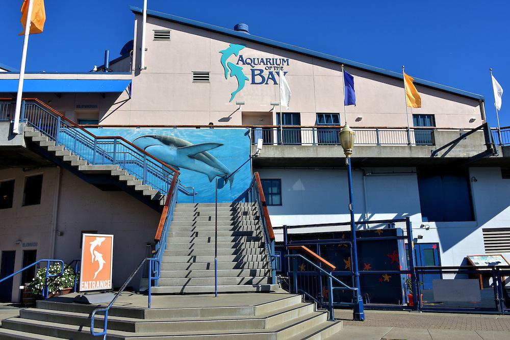 Aquarium Of The Bay Entrance In San Francisco California