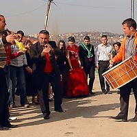 people dancing in the streets of Ankara in Turkish wedding