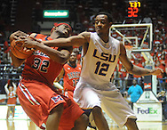 "Mississippi's Zach Graham vs. LSU's Aaron Dotson at the C.M. ""Tad"" Smith Coliseum on Thursday, March 4, 2010 in Oxford, Miss. Ole Miss won 72-59."