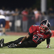William Penn Linebacker ISAIAH GREEN (36) gets injured during a week one DIAA game between William Penn and St. Georges, Friday, Sept. 09, 2016 at CARAVEL Academy in Bear, DE.