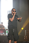 Jay-Z performs on the third day of the 2010 Bonnaroo Music & Arts Festival on June 12, 2010 in Manchester, Tennessee. The four-day music festival features a variety of musical acts, arts and comedians..Photo by Bryan Rinnert/3Sight Photography