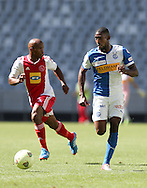 CAPE TOWN, South Africa - Saturday 26 January 2013, Anatole Ngamukol of Grasshopper Club Zurich during the soccer/football match Grasshopper Club Zurich (Switzerland) and Ajax Cape Town at the Cape Town stadium..Photo by Roger Sedres/ImageSA