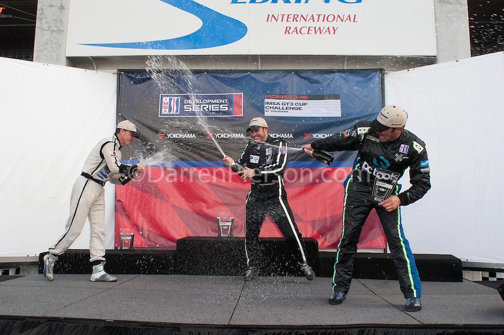 Race #1 Gold Class Podium: Angel Benitez, Scott Tucker, David Calvert-Jones
