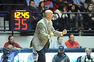 "Mississippi head coach Andy Kennedy reacts vs. Missouri at the C.M. ""Tad"" Smith Coliseum in Oxford, Miss. on Saturday, February 8, 2014. (AP Photo/Oxford Eagle, Bruce Newman)"