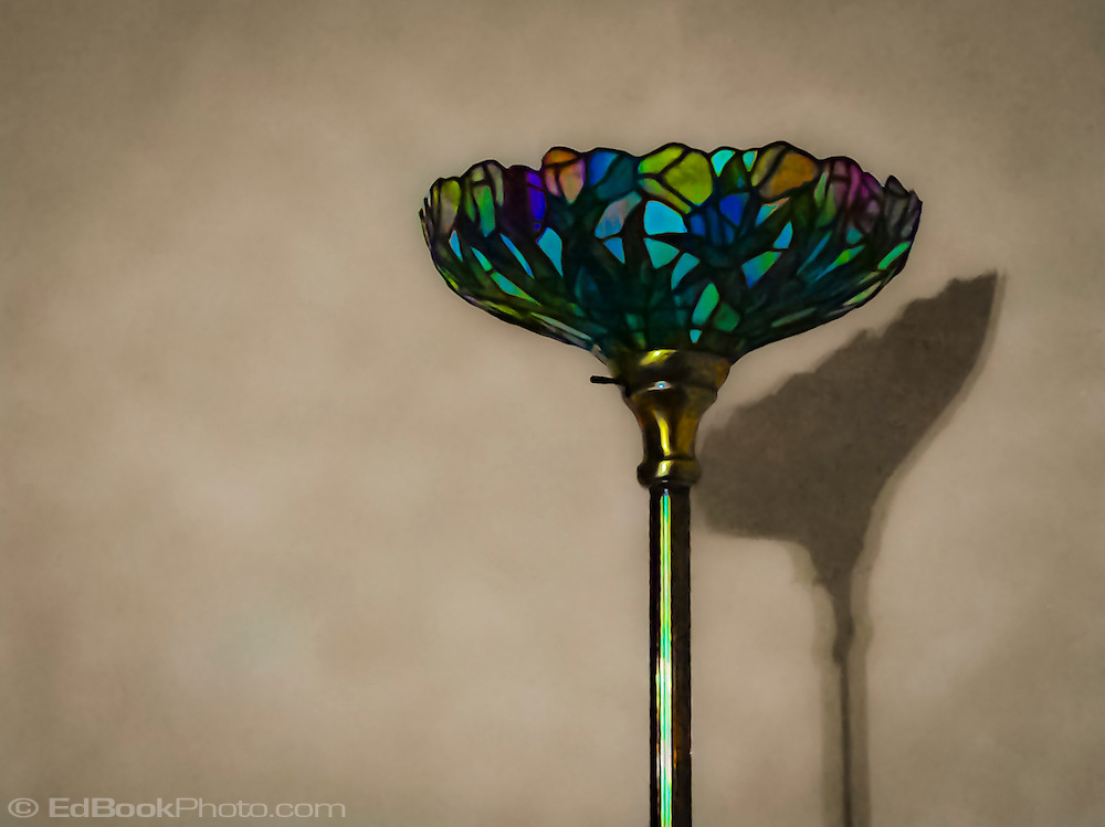 stained glass floor lamp stylized to painterly effect. Black Bedroom Furniture Sets. Home Design Ideas