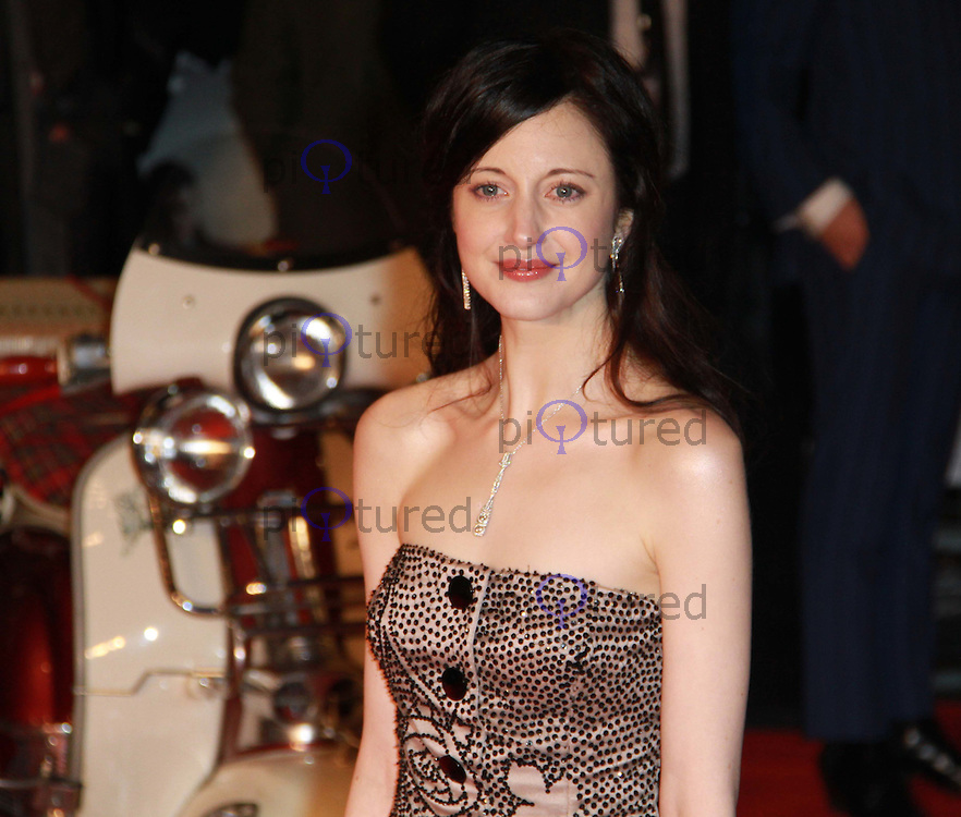 Andrea Riseborough Brighton Rock European Premiere, Odeon West End Cinema, Leicester Square, London, UK, 01 February 2011: Contact: Ian@Piqtured.com +44(0)791 626 2580 (Picture by Richard Goldschmidt)