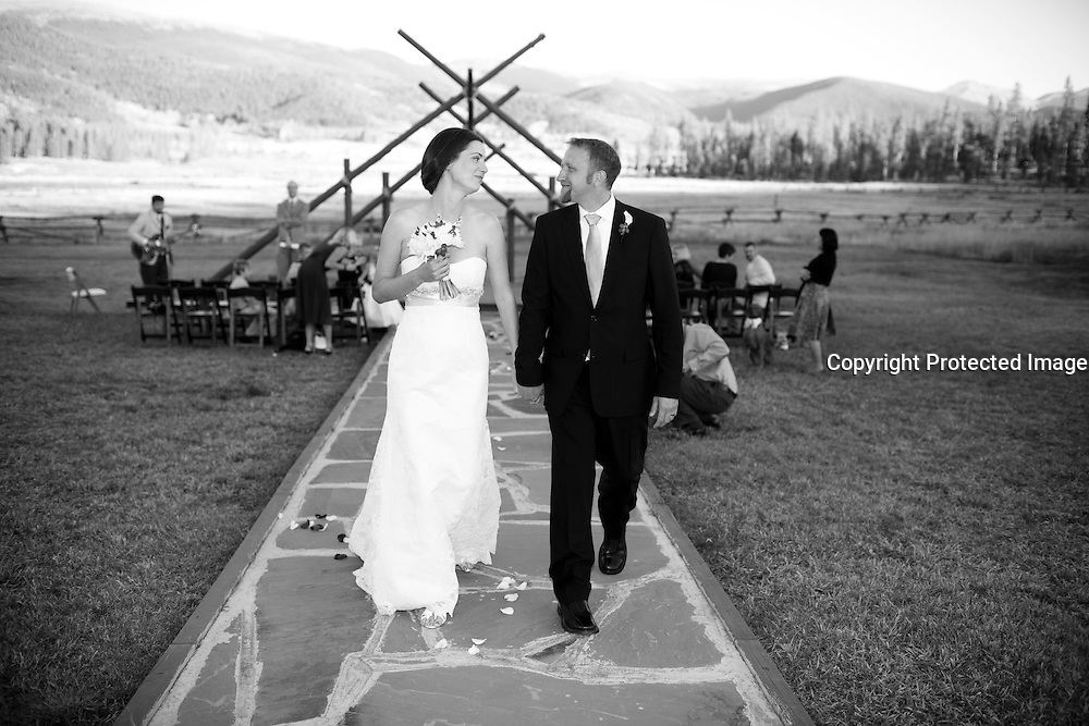 SHOT 9/30/10 7:05:54 PM - Marc Piscotty and Margaret Ebeling wedding week at Devil's Thumb Ranch in Tabernash, Co..(Photo by Trevor Brown / © 2010)