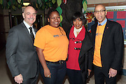 New York, NY- January 16:  l to r: FDNY Fire Commissioner Salvatore Cassano, NYC Chief Service Officer Diahnn Billings-Burford, Actress Angela Bassett, NYC Schools Chancellor Dennis Walcott at the New York City Service Program in Honor of Martin Luther King Jr. Day held at the Mirabel Sisters Campus in West Harlem, New York City. Photo Credit: Terrence Jennings