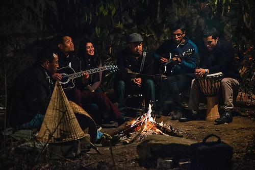 Backyard Bonfire Band : Salt, a folk band from Shillong, Meghalaya playing in their backyard