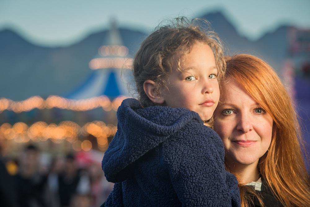 Susan McCauley and her niece Mieka at the Alaska State Fair, Palmer, Alaska