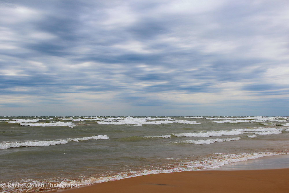 &quot;They Came Crashing&quot;<br /> <br /> Beautiful strong waves come crashing into the shore along Lake Michigan in the Upper Peninsula!!<br /> <br /> The Great Lakes by Rachel Cohen
